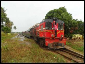 Le train de Manakara vue de devant