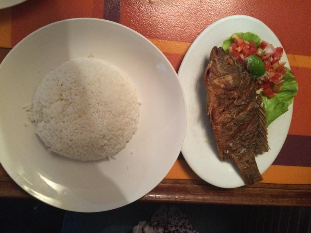 Un plat du jour chantaco, poisson frite