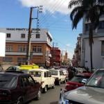 Embouteillages à Isoraka, Antananarivo, à 12h.