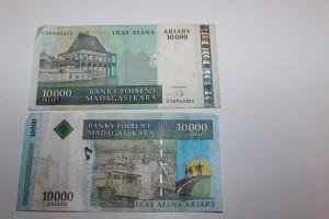 10000 Ariary, le plus moche des billets malgaches.