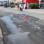 La route circulaire d'Antsakaviro, totalement dévastée