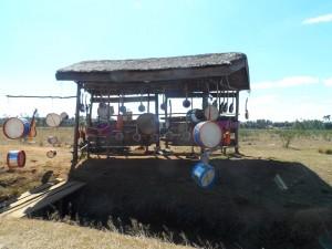 Vendeurs d'artisanats sur la RN7 près d'Antsirabe