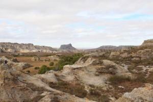 Vue vers un paysage du colorado malgache