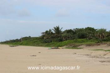 La plage de Manambato, coté océan indien.