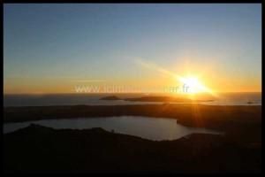 Coucher de soleil sur les lacs du mont Passot