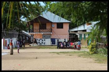 La place du village de Nosy Komba