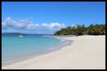 La plage de Nosy Iranja, belle et calme