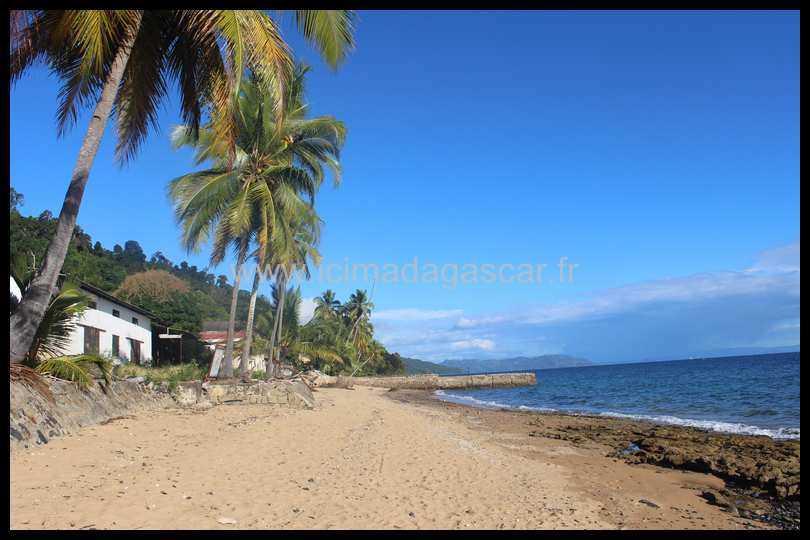 La plage du parc de Lokobe à Nosy Be