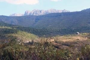 La foret de l'Andringitra, avec les cascades et le massif.