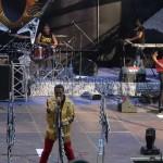 Abasse du groupe Apost sur la scène de Tana In Rock
