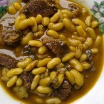 Plat de hen'omby sy tsaramaso (zébu et haricots)