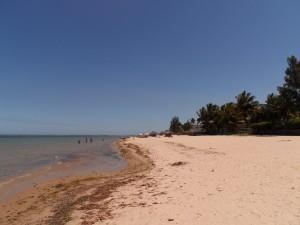 Vue de la plage en s'éloignant un peu des hôtels