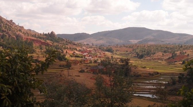 Paysage de la RN7 de Madagascar