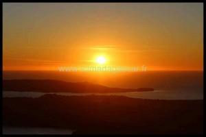 Le coucher de soleil au mont Passot